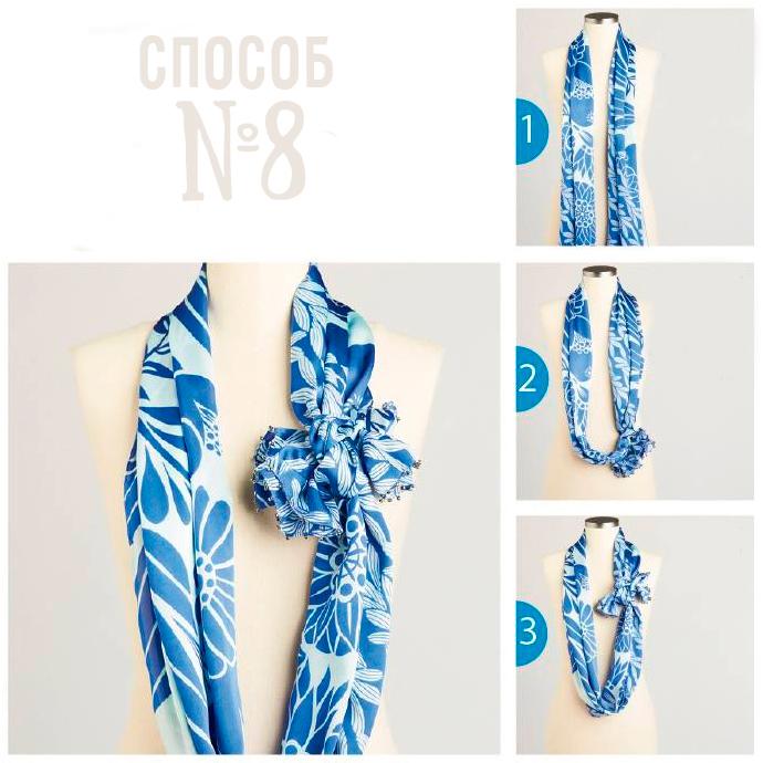 шарф с бантиком