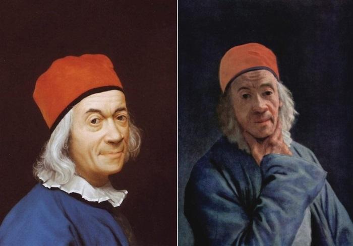 Жан-Этьен Лиотар. Автопортреты 1768 и 1773 гг. Фото: Интернет