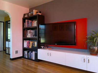 оформление стены с телевизором (2)