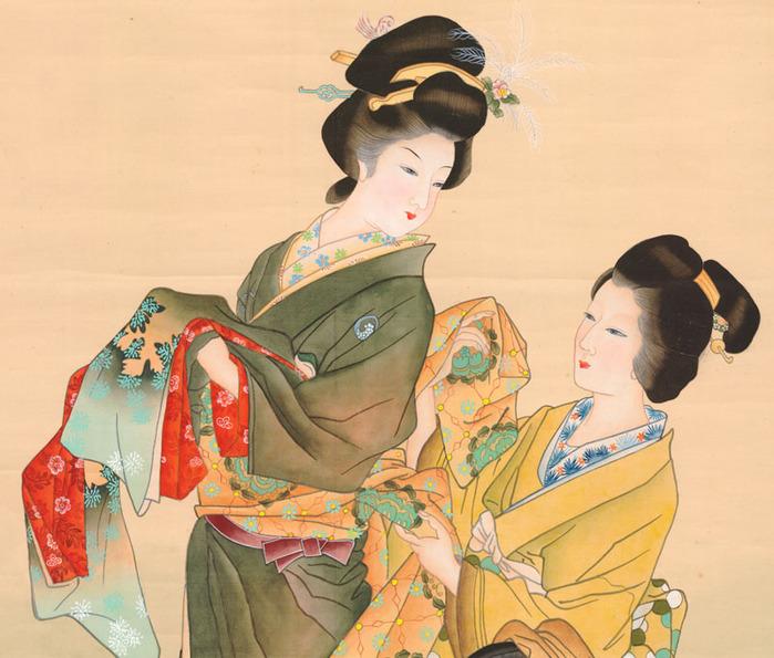 23-яп Geisha Dressing with Attendant (699x595, 141Kb)