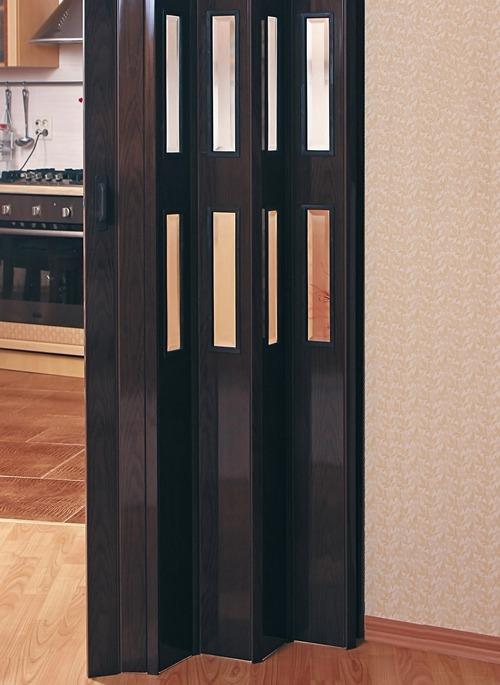 Двери-гармошка на кухне