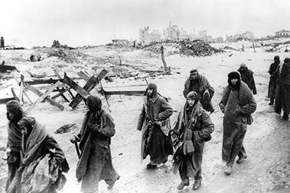Немецкие военнопленные под Сталинградом, 1943 год