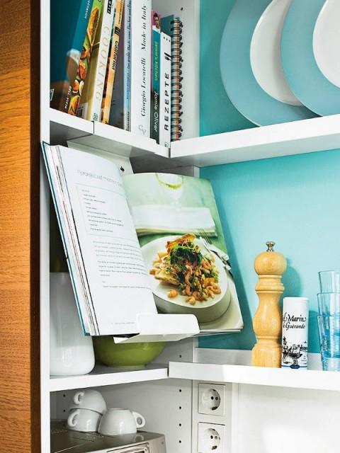 Бирюзовый цвет маленькой кухни!