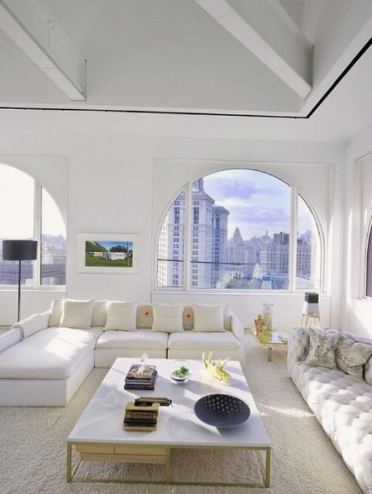 Угловой диван в интерьере современного дома