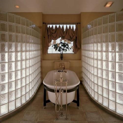 Перегородки из стеклоблоков для ванной