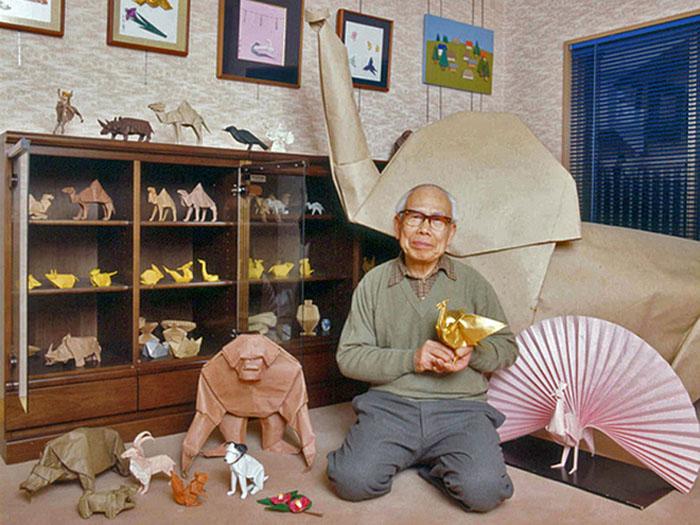 Японский мастер оригами Акира Ёсидзава и его работы