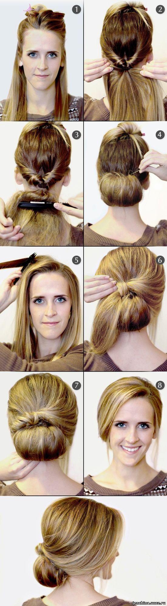 Картинки как сделать причёску на средние волосы