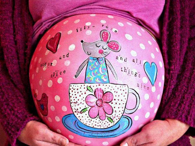 Роспись на будущих мамах