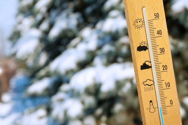 градусник зимой