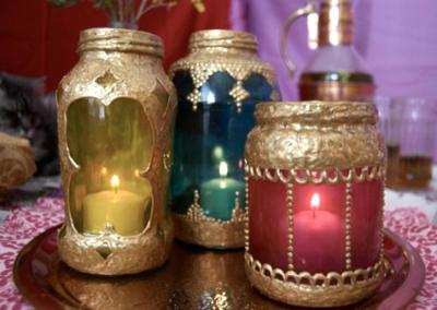 Марокканские светильники из стеклянных баночек