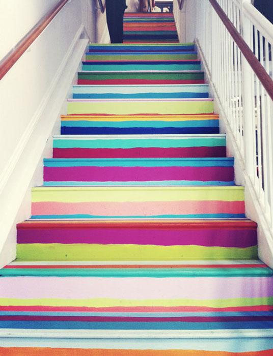 Полосатая лестница.