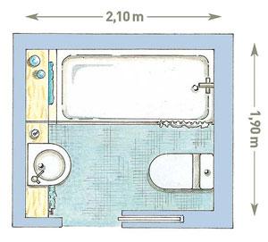 Дизайн схема квадратного санузла