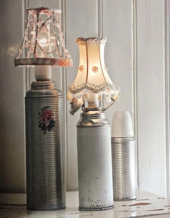 Настольная лампа из ненужного термоса.