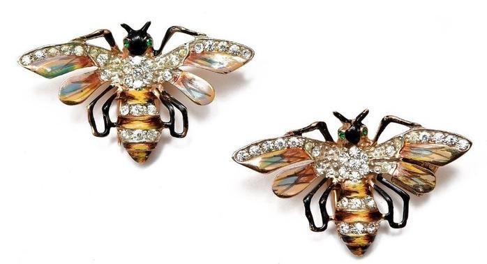 38. Серебряные коллекционные фур-клипы «Королевские Пчелы» Coro 1942 год (700x378, 154Kb)