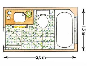 схема совмещенного санузла типовой квартиры