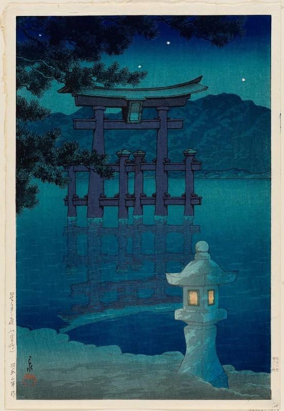 """Хасуи Кавасэ. """"Звездная ночь в Миядзиме"""" 1928."""