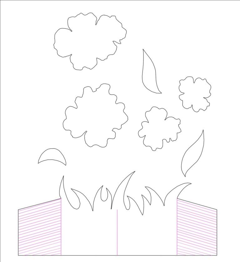 Открытки, объемные открытки на 8 марта с готовыми шаблонами