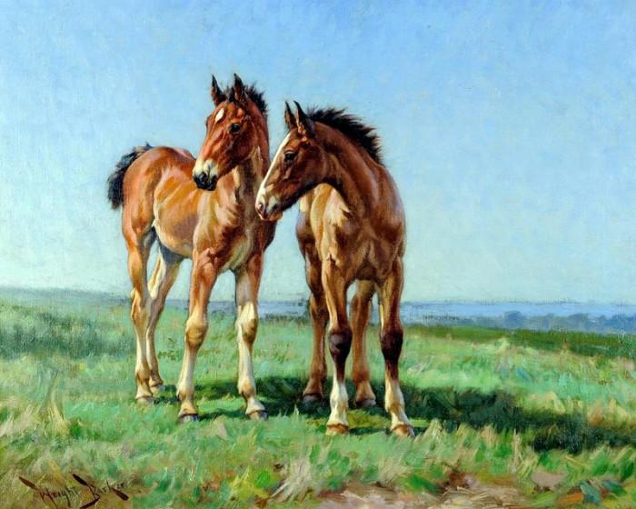лошади художник Bonnie Marris - 13
