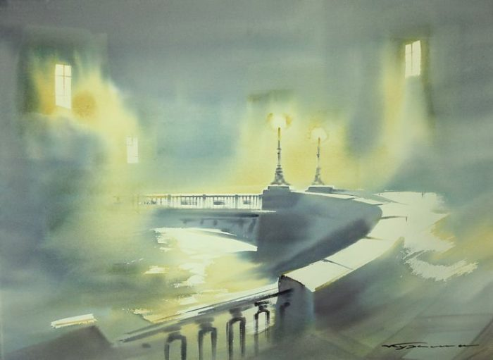 художник Константин Кузема акварель картины - 28
