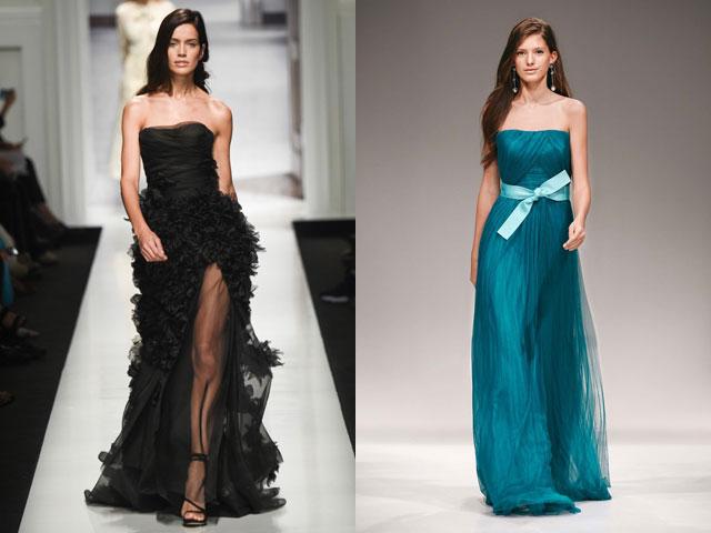 Модные платья бюстье 2017