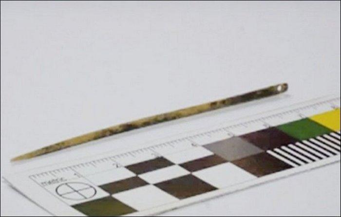 Самые древние швейные иглы.