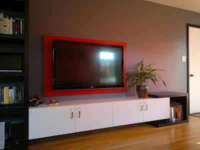 оформление стены с телевизором (3)