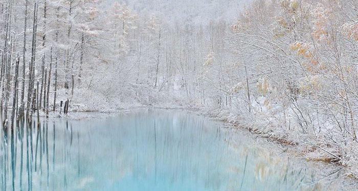 Зима на Хоккайдо.