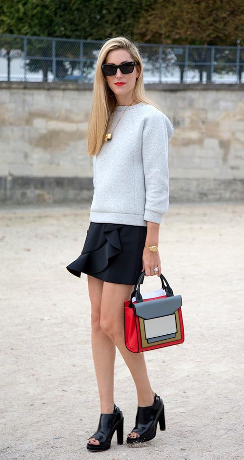 мини-юбка, стрит стайл, street style, mini skirt, мода, тренды осень-зима 2014/2015, женская мода