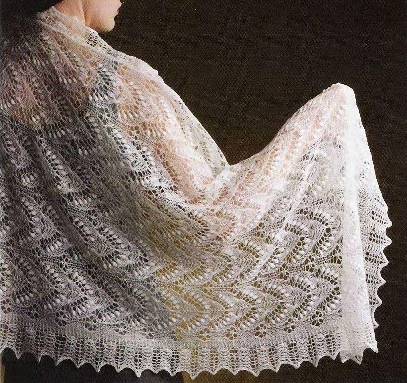время брака шали платки палантины спицами схемы фото хотите растрогать своего