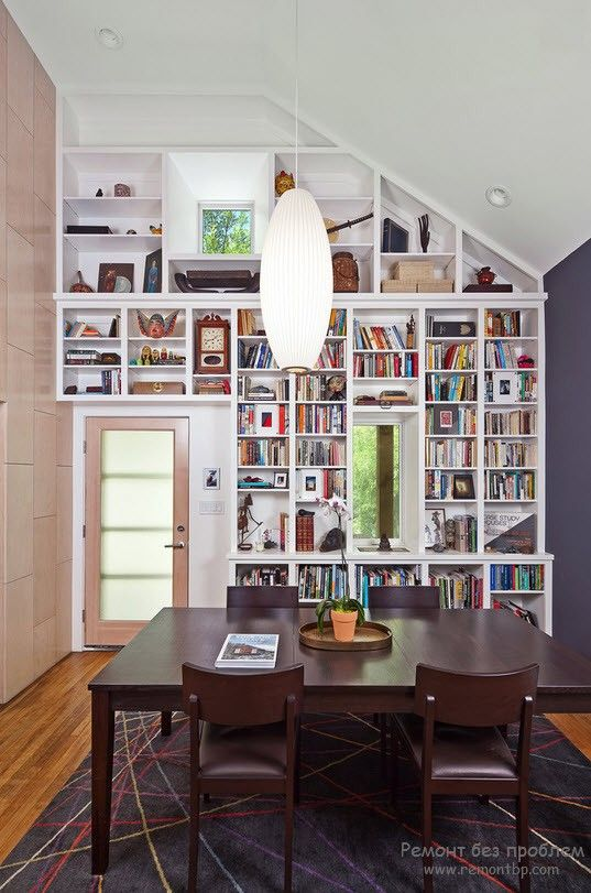 продуманное использование пространства для размещения полноценной библиотеки