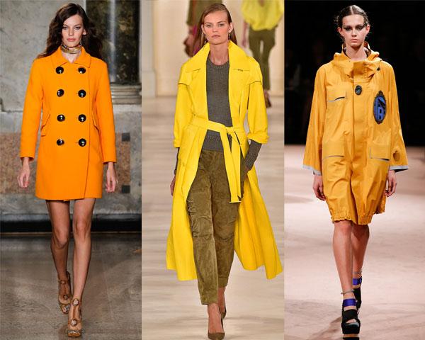 Модные цвета плащей весна 2015