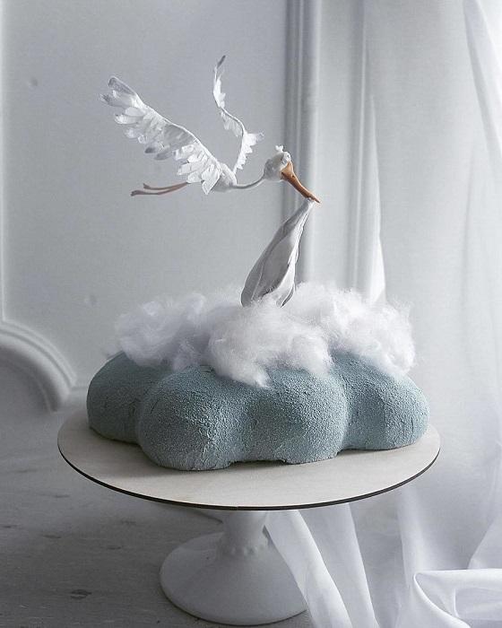 Торт с намёком для будущего родителя или же на выписку.