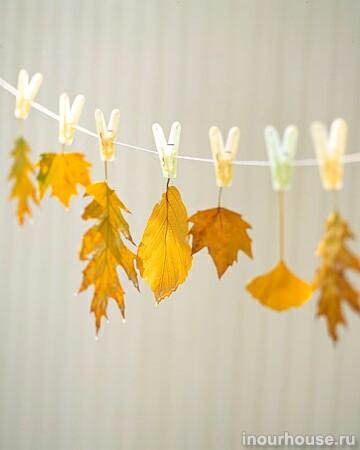Украшения из осенних листьев