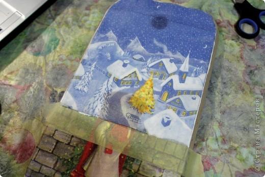 Декор предметов, Мастер-класс Декупаж: как соединить 2 салфетки м\к Салфетки Новый год. Фото 13