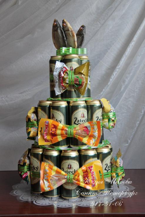 Торт из банок пива своими руками пошагово фото для