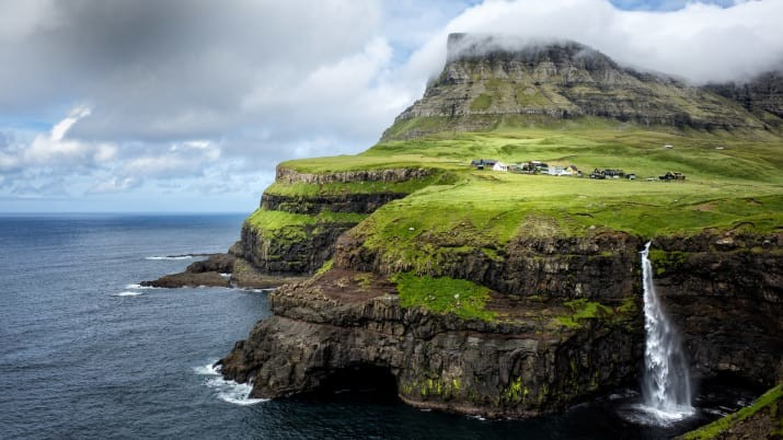Гасадалур, Фарерские острова  Сказочно, города, красиво, места, мир, пейзаж, планета, фото