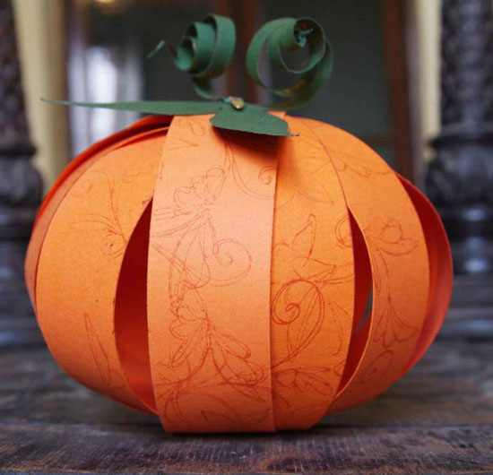 Бумажная тыква на Хэллоуин своими руками