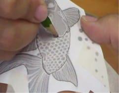 Как перенести рисунок на вазу для будущей росписи