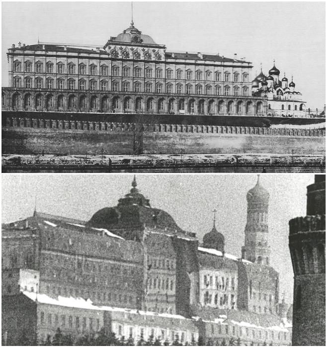 Большой Кремлевский Дворец до и после маскировки. | Фото: can-you-help.me.