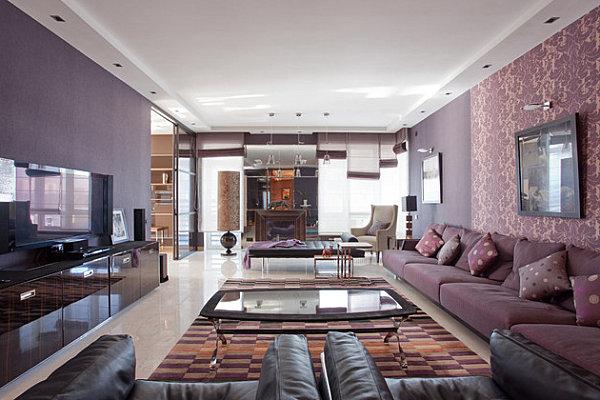 Московская квартира в фиолетовых тонах