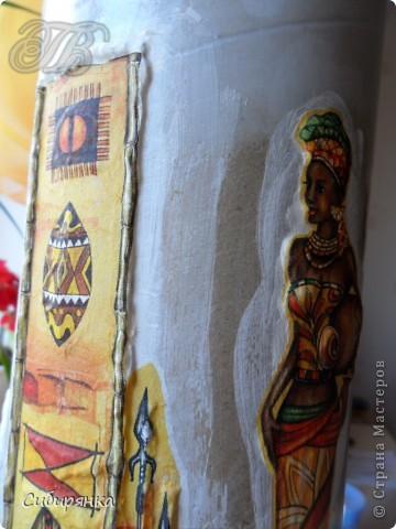 Добрый день, Страна Мастеров!!! Как и обещала, покажу некоторые промежуточные фотографии  процесса изготовления напольной вазы с африканскими мотивами. . Фото 14