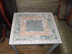Мозаичный столик | Ярмарка Мастеров - ручная работа, handmade