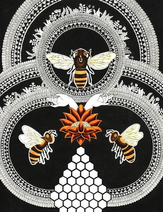 15.bee-tattoo-tatoo (537x700, 453Kb)