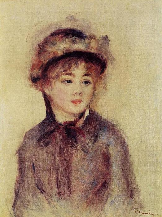 24 Бюст женщины, носящей шляпу 1881 (523x700, 77Kb)