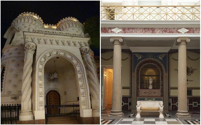 Непривычная красота особняка, ярким пятном выделяется среди архитектуры Москвы даже сейчас. | Фото: um.mos.ru/ liveinternet.ru.