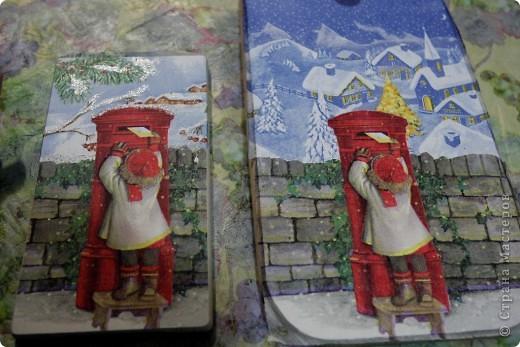 Декор предметов, Мастер-класс Декупаж: как соединить 2 салфетки м\к Салфетки Новый год. Фото 22