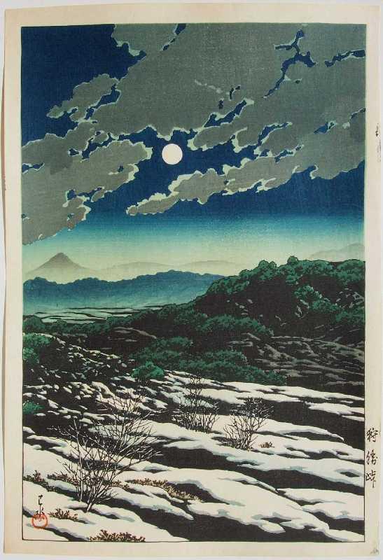 Хасуи Кавасэ.  Ксилография