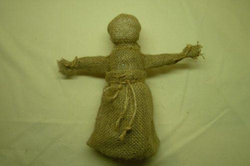 Кукла-оберег из мешковины