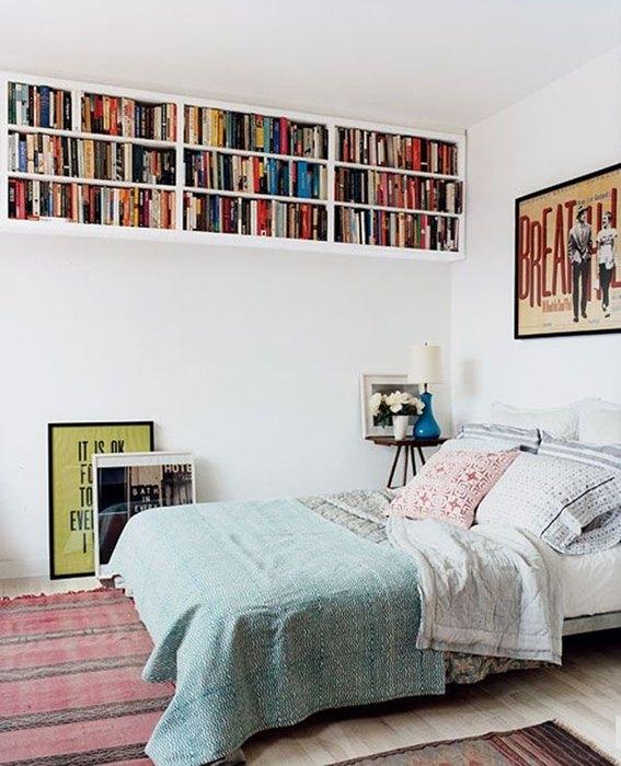 Идея №5. Хранение книг в спальне