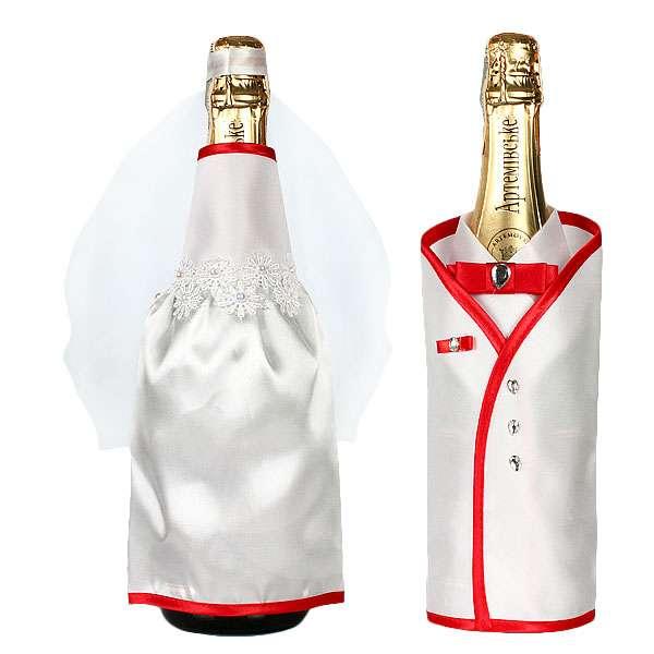 Как украсить свадебную бутылку шампанского своими руками - лучшие идеи с фото
